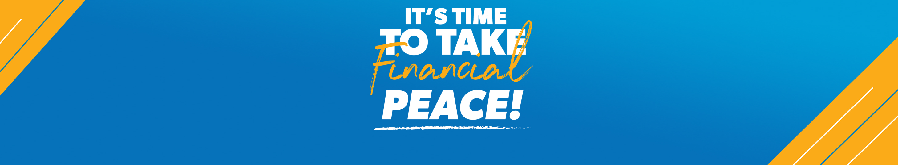 Financial Peace inside header banner