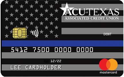 Flag Police Dept Debit Card
